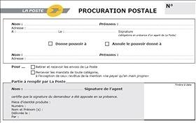 Modele Lettre Procuration Colis Poste